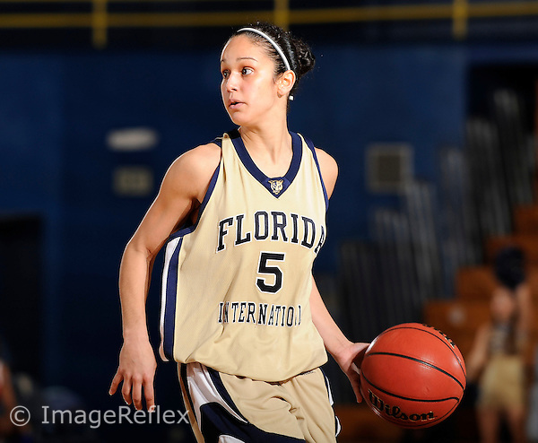 20 December 2008:  FIU's Michelle Gonzalez (5) handles the ball in the South Alabama 65-47 victory over FIU at the U.S. Century Bank Arena in Miami, Florida.