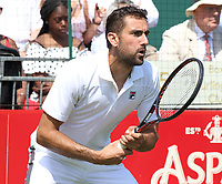 Marin Cilic plays at the Aspall Tennis Classic at Hurlingham Club, London on 26 June 2019<br /> <br /> Photo by Keith Mayhew