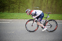Marcel Aregger (SUI/IAM) catapulting himself forward<br /> <br /> 56th De Brabantse Pijl - La Fl&egrave;che Braban&ccedil;onne (1.HC)