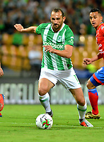 MEDELLÍN - COLOMBIA, 30-03-2019: Hernán Barcos de Atlético Nacional en acción, durante partido de la fecha 12 entre Atlético Nacional y Deportivo Pasto, por la Liga Águila I 2019, jugado en el estadio Atanasio Girardot de la ciudad de Medellín. / Hernan Barcos of Atletico Nacional in action, during a match of the 12th date between Atletico Nacional and Deportivo Pasto for the Aguila League I 2019, played at Atanasio Girardot stadium in Medellin city. Photo: VizzorImage / León Monsalve / Cont.