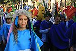 Israel, Purim procession in Ra'anana