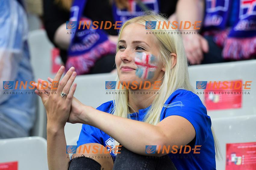 Tifosa Islanda Fan Iceland <br /> Paris 03-07-2016 Stade de France Football Euro2016 France - Iceland / Francia - Islanda Quarter finals <br /> Foto JB Autissier Panoramic / Insidefoto