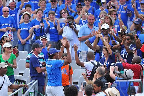 05.03.2016. Vélodrome Amédée Detraux, Guadeloupe, France. Davis Cup 1st round. France versus Canada.  Ffrench supporters