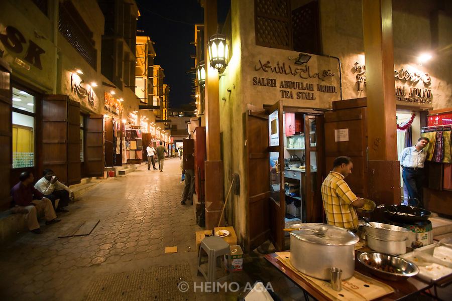 Bur Dubai Souq. A Tea Stall.