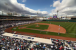 The Reno Aces play the Colorado Springs Sky Sox during Sunday's minor league baseball game, April 17, 2011, in Reno, Nev. .Photo by Cathleen Allison