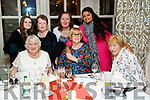 Enjoying Women's Christmas at the Meadowlands Hotel, Tralee on Saturday night last were l-r: Betty Elloway (Cornwall), Joan Denby (Dublin), Eileen Dennehy (Tralee). Back Grace Elmes and Imelda Elmes, (Abbeydorney) with Annette O'Donnell (Leith West) and Jaye Seralathan (Tralee).