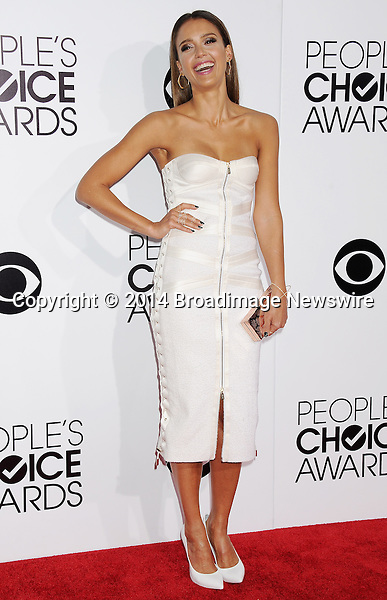 Pictured: Jessica Alba<br /> Mandatory Credit &copy; Gilbert Flores /Broadimage<br /> 2014 People's Choice Awards <br /> <br /> 1/8/14, Los Angeles, California, United States of America<br /> Reference: 010814_GFLA_BDG_146<br /> <br /> Broadimage Newswire<br /> Los Angeles 1+  (310) 301-1027<br /> New York      1+  (646) 827-9134<br /> sales@broadimage.com<br /> http://www.broadimage.com