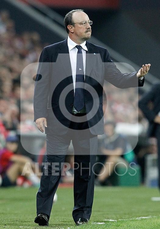 SSC Napoli's coach Rafael Benitez during Champions League 2014/2015 Play-off 2nd leg match.August 27,2014. (ALTERPHOTOS/Acero)