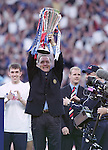 Dick Advocaat with the SPL trophy in 2000