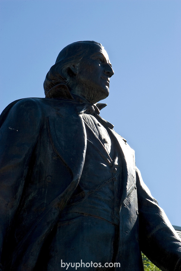 0506-27 GCS June..Brigham Young Statue..General Campus Scenics..6/20/05..Photo by Jaren Wilkey/BYU..Copyright BYU Photo 2005.All Rights Reserved.photo@byu.edu   (801)422-7322