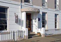 Pictured: Croft House in Tenby, west Wales.<br /> Re: A holiday home where Beatrix Potter drew parts of The Tale of Peter Rabbit is up for sale.<br /> The renowned author wrote a letter from the seaside home in Tenby, Pembrokeshire, in 1900 telling tales of rabbits living in the cliffs.<br /> She was also inspired by the garden of the Grade II-listed Georgian property and painted a lily pond that was used in the book.<br /> Croft House has been put on the market for &pound;1.8m.<br /> The building was once split into two houses - with Potter staying at number two.<br /> Andrew Lowe, whose family have owned the property since 1964, said that in 1900 Ms Potter wrote four 'Tenby letters' to the children of governess Annie Moore.<br /> &quot;She also did two paintings of the garden of Croft House, no longer part of the property,&quot; he continued.<br /> &quot;The lily pond illustration that appears in The Tale of Peter Rabbit was taken from one of these paintings.&quot;