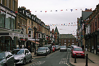 General view of Llandrindod Wells in Powys, mid Wales, UK