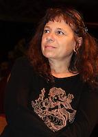 SAO PAULO, SP, 15 DE MARCO 2012. COLETIVA - UMA MULHER DE OUTRO MUNDO. A atriz Iara Jamra durante a coletiva de imprensa da peca Uma Mulher do Outro Mundo, que estreia dia 23 de marco no shopping Eldorado, bairro de Pinheiros, regiao oeste de SP, na noite desta quinta-feira, 15. (FOTO: MILENE CARDOSO - BRAZIL PHOTO PRESS)