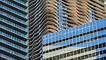 Contrast in architectural textures -  as seen from the Chicago Architecture Foundation River Cruise April 5, 2016. (Photo by Jamie Moncrief)