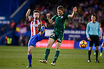 Atletico de Madrid's Saúl Ñígez and Real Betis's Darko Brasanac during La Liga match between Atletico de Madrid and Real Betis at Vicente Calderon Stadium in Madrid, Spain. January 14, 2017. (ALTERPHOTOS/BorjaB.Hojas)
