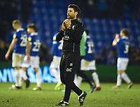 Lincoln City manager Danny Cowley applauds the fans at the final whistle<br /> <br /> Photographer Andrew Vaughan/CameraSport<br /> <br /> The EFL Sky Bet League Two - Oldham Athletic v Lincoln City - Tuesday 27th November 2018 - Boundary Park - Oldham<br /> <br /> World Copyright © 2018 CameraSport. All rights reserved. 43 Linden Ave. Countesthorpe. Leicester. England. LE8 5PG - Tel: +44 (0) 116 277 4147 - admin@camerasport.com - www.camerasport.com