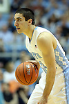 21 December 2013: North Carolina's Luke Davis. The University of North Carolina Tar Heels played the Davidson College Wildcats at the Dean E. Smith Center in Chapel Hill, North Carolina in a 2013-14 NCAA Division I Men's Basketball game. UNC won the game 97-85 in overtime.
