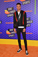 Kevin Knox at the Nickelodeon Kids' Choice Sports Awards 2018 at Barker Hangar, Santa Monica, USA 19 July 2018<br /> Picture: Paul Smith/Featureflash/SilverHub 0208 004 5359 sales@silverhubmedia.com