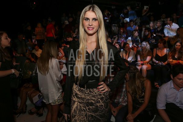 Sao Paulo, Brasil - 02/04/2014 - Barbara Evans no  o desfile de Colcci durante o SPFW  - Verao 2015. <br /> Foto : Barbara Dutra/ FOTOSITE