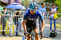 MEDELLIN - COLOMBIA, 15-02-2019: Jhonatan Narvaez (ECU), Sky, durante la cuarta etapa del Tour Colombia 2.1 2019 con un recorrido de 144 Km, que se corrió con salida y llegada en el estadio Atanasio Girardot de la ciudad de Medellín. / Jhonatan Narvaez (ECU), Sky, during the four stage of 144 km of Tour Colombia 2.1 2019 that ran with start and arrival in Atanasio Girardot stadium in Medellin city.  Photo: VizzorImage / Anderson Bonilla / Cont