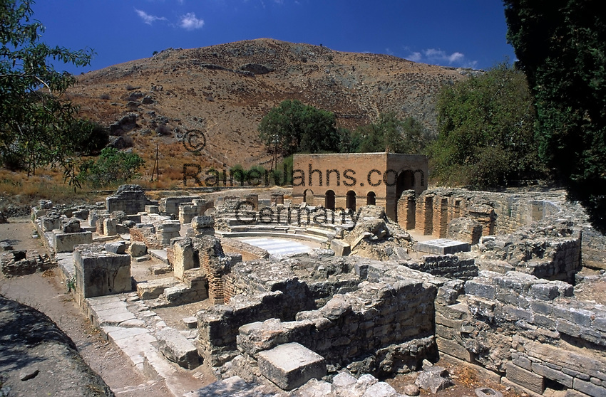 Griechenland, Kreta, Górtys - ehemalige Hauptstadt der roemischen Provinz Kreta: Odeon | Greece, Crete, Gortys - former roman capital of Province Crete: Odeon