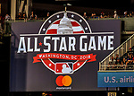 15 August 2017: The Washington Nationals display the 2018 All-Star Game Sign at Nationals Park in Washington, DC. Mandatory Credit: Ed Wolfstein Photo *** RAW (NEF) Image File Available ***