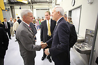 Tuesday, August 8, 2017 at the new Gentry Career and Technical Education Center on the high school campus. Guests, dignitaries and school personnel attended opening ceremonies at the center designed for the Bentonville, Decatur, Gentry and the Gravette School districts. The center will concentrate on diesel technology and medical field professions. <br /> <br /> NWA Democrat-Gazette/DAVID GOTTSCHALK