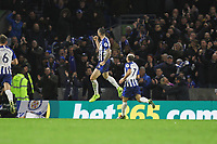 Shane Duffy of Brighton & Hove Albion celebrates his goal in the second half during Brighton & Hove Albion vs Norwich City, Premier League Football at the American Express Community Stadium on 2nd November 2019