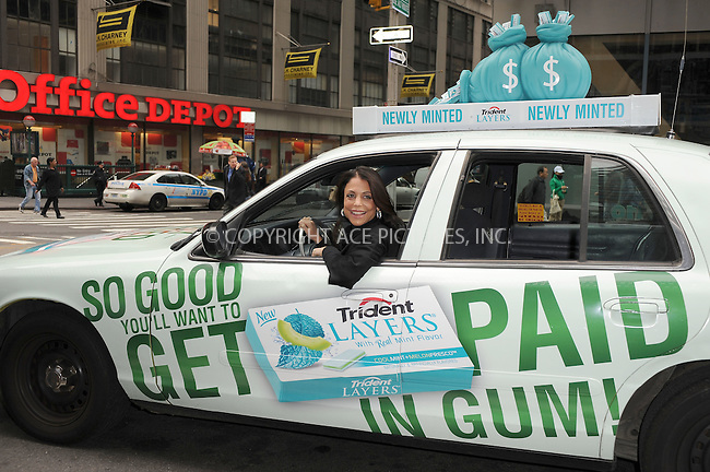 WWW.ACEPIXS.COM . . . . . .October 21, 2010, New York City... Reality TV star Bethenny Frankel promotes the launch of Trident Layers gum in Times Square. October 21, 2010 in New York City. ....Please byline: KRISTIN CALLAHAN - ACEPIXS.COM.. . . . . . ..Ace Pictures, Inc: ..tel: (212) 243 8787 or (646) 769 0430..e-mail: info@acepixs.com..web: http://www.acepixs.com .