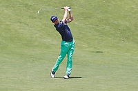 Justin Thomas (USA) hits his second shot on the 9th hole during the second round of the 118th U.S. Open Championship at Shinnecock Hills Golf Club in Southampton, NY, USA. 15th June 2018.<br /> Picture: Golffile | Brian Spurlock<br /> <br /> <br /> All photo usage must carry mandatory copyright credit (&copy; Golffile | Brian Spurlock)