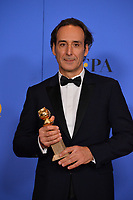 Alexandre Desplat at the 75th Annual Golden Globe Awards at the Beverly Hilton Hotel, Beverly Hills, USA 07 Jan. 2018<br /> Picture: Paul Smith/Featureflash/SilverHub 0208 004 5359 sales@silverhubmedia.com