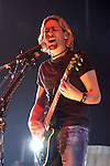 Nickelback's Chad Kroeger sings during the band's show at the Verizon Wireless Theater in Houston,Texas Monday Oct. 20,2003.