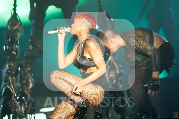 Singer Rihanna performs on stage during Rock in Rio Festival on June 5, 2010 in Arganda del Rey, Spain....Photo: Billy Chappel / ALFAQUI