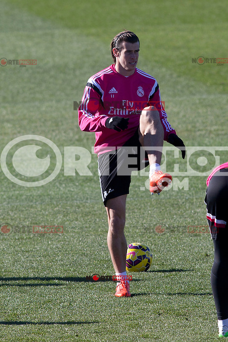 Gareth Bale during a sesion training at Real Madrid City in Madrid. January 23, 2015. (ALTERPHOTOS/Caro Marin) /NortePhoto<br />