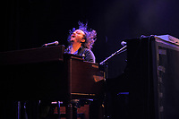 LONDON, ENGLAND - APRIL 13: James Han of 'Nathaniel Rateliff &amp; the Night Sweats' performing at Shepherd's Bush Empire on April 13, 2018 in London, England.<br /> CAP/MAR<br /> &copy;MAR/Capital Pictures