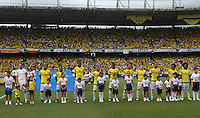 BARRANQUILLA -COLOMBIA, 11-OCTUBRE-2016.Formación de Colombia ante Uruguay.Acción de juego entre Colombia  y   Uruguay durante el  encuentro  por las eliminatorias al mundial de Rusia 2018  disputado en el estadio Metropolitano Roberto Meléndez de Barranquilla./ Team Of Colombia against Uruguay.Action game between Colombia and Uruguay during the qualifying match for the 2018 World Championship in Russia Metropolitano Roberto Melendez stadium in Barranquilla . Photo:VizzorImage / Felipe Caicedo  / Staff