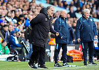 Leeds United manager Marcelo Bielsa shouts instructions to his team from the technical area<br /> <br /> Photographer Alex Dodd/CameraSport<br /> <br /> The EFL Sky Bet Championship - Leeds United v Sheffield Wednesday - Saturday 13th April 2019 - Elland Road - Leeds<br /> <br /> World Copyright © 2019 CameraSport. All rights reserved. 43 Linden Ave. Countesthorpe. Leicester. England. LE8 5PG - Tel: +44 (0) 116 277 4147 - admin@camerasport.com - www.camerasport.com