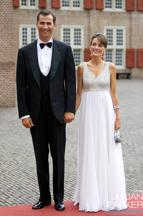 Crown Prince Felipe, and Crown Princess Letiza of Spain, arrive for a Reception at Het Loo Palace in Apeldoorn, to celebrate the 40th Birthday of Crown Prince Willem Alexander, The Prince turned forty in April earlier this year.