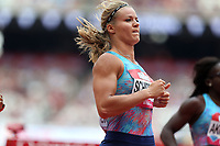 Dafne Schippers of Netherlands competes in the womenís 100 metres during the Muller Anniversary Games at The London Stadium on 9th July 2017
