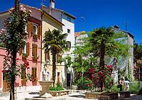 Kroatien, Istrien, Porec: Altstadt mit Marafor Platz (Trg Marafor) | Croatia, Istria, Porec: old town with Marafor Platz (Trg Marafor)