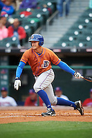Durham Bulls designated hitter Richie Shaffer (9) at bat during a game against the Buffalo Bisons on June 13, 2016 at Coca-Cola Field in Buffalo, New York.  Durham defeated Buffalo 5-0.  (Mike Janes/Four Seam Images)