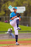 Wisconsin Timber Rattlers pitcher Aaron Ashby (26) on the mound during a Midwest League game against the Lake County Captains on May 10, 2019 at Fox Cities Stadium in Appleton, Wisconsin. Wisconsin defeated Lake County 5-4. (Brad Krause/Four Seam Images)