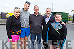 """Ciara O'Sullivan, John Moynihan, Jimmy and Aisling Brown and Sean Kelly MEP, at the Paul Lucey Memorial """"Run for the Rock"""" in the Austin Stack GAA Club on Monday morning."""