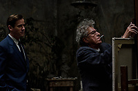 FINAL PORTRAIT (2017)<br /> ARMIE HAMMER, GEOFFREY RUSH<br /> *Filmstill - Editorial Use Only*<br /> CAP/FB<br /> Image supplied by Capital Pictures