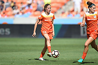 Houston, TX - Saturday May 13, 2017: Houston Dash forward Janine Beckie (16) during a regular season National Women's Soccer League (NWSL) match between the Houston Dash and Sky Blue FC at BBVA Compass Stadium. Sky Blue won the game 3-1.