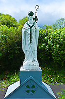 Statue of Irish patron saint St Patrick in Ballingarry, County Limerick, Ireland