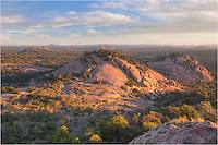 On a morning just after the sun breaks over the horizon, this is the view from Turkey Peak at Enchanted Rock State Park looking north. This first day of November brought temperatures in the 40s - a nice break from the above average temperatures of October.