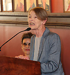 Glenda Jackson during the 2018 Outer Critics Circle Theatre Awards presentation at Sardi's on May 24, 2018 in New York City.