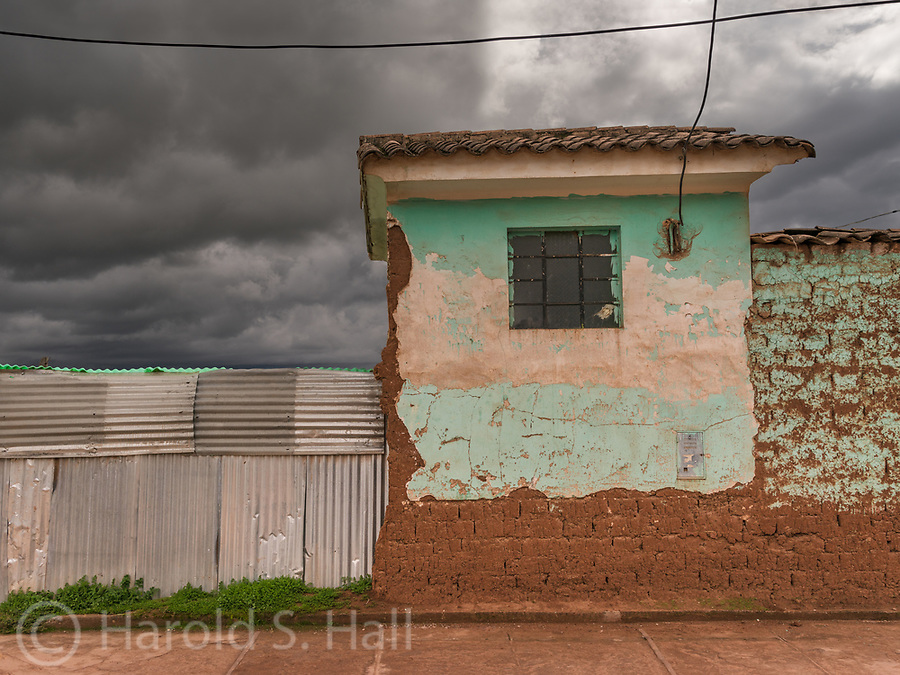 A street scene in the small town of Chinchero numerous miles outside of Cusco, Peru.