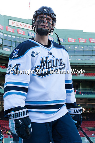 Peter Housakos (Maine - 24) - The University of Maine Black Bears defeated the University of Connecticut Huskies 4-0 at Fenway Park on Saturday, January 14, 2017, in Boston, Massachusetts.